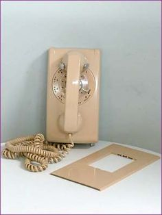 Our kitchen phone with a long cord.  1966-1970