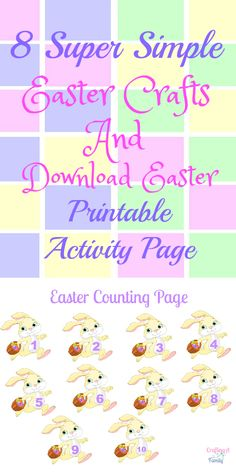 Have fun this Easter with simple Easter Crafts.  I loved the simple counting page to play with the kids while dinner cooked in my Electric Pressure cooker. This site has tons of Recipes!