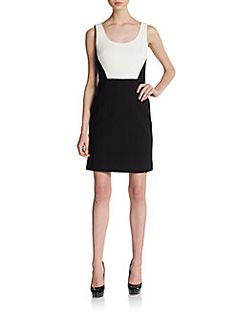 4.collective - Two-Tone Basketweave Dress