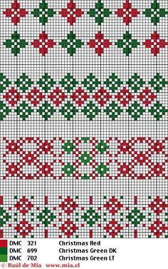 arbolitos de navidad en punto de cruz - Buscar con Google
