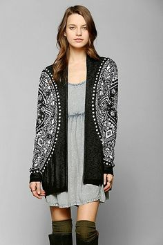 Staring At Stars Sunburst Open-Front Cardigan - Urban Outfitters