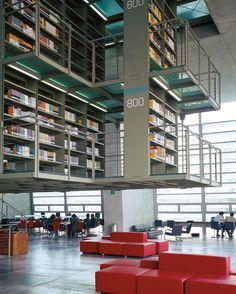 Book machine media collective - the vasconcelos library by t Cedric Price, Like A Version, Architecture Board, Renzo Piano, Library Design, Wood Design, Urban Design, Minimalist Design, Facade