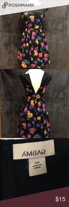 Ambar Sheer Top Floral Dress Bust 32 Waist 27 Length 37. This dress is in excellent condition. It is very fitting and the material does not stretch. There are no rips stains or flaws. Ambar Dresses Mini
