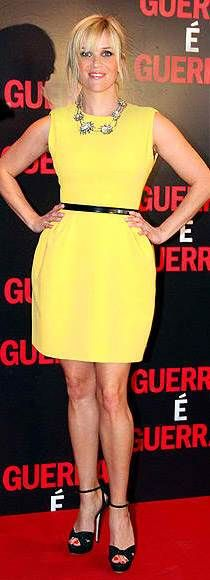 Reese looks amazing in yellow!   Get the look!   http://www.secretkrushcorner.com/collections/frontpage/products/miranda-dress