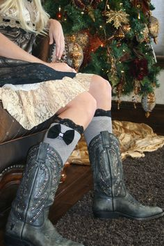 Boot Socks with cowgirl boots...