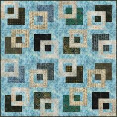 """""""It's Good to Be Square"""" quilt pattern designed by A Quilter's Dream. Features Artisan Batiks: Rivoli."""