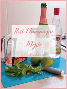 Valentine's Day Mojito - Rosé Champagne Mojito with Champagne Syrup - Valentine's Day Cocktail - Mixology - TrineNicole.com Blog - Easy Pink Drinks Fun Cocktails, Cocktail Drinks, Rose Champagne, Fresh Mint Leaves, Pink Drinks, Different Recipes, Mojito, Syrup, Something To Do