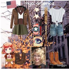 Hetalia: Nyo! America by sweetly-evil on Polyvore
