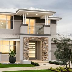 Display Homes For Sale Perth Prices have been reduced on several of our completed display homes for sale! Modern Exterior House Designs, Best Modern House Design, Dream House Exterior, Dream Home Design, Modern House Plans, Exterior Design, 2 Storey House Design, Bungalow House Design, House Front Design