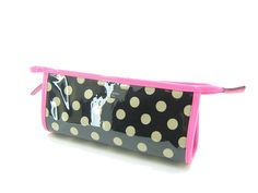 Kate Spade East West Heddy Rose Avenue Black Bdot Small Cosmetic Bag WLRU1261 >>> Want to know more, visit the site now : Travel cosmetic bag