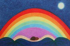 Rainbow Print: Rainbow Art Print, Symbolic Art, Spiritual Rainbow Love Art Print £15.00