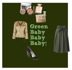 """""""Gracious Green"""" by sushi103 ❤ liked on Polyvore featuring Christian Dior, Smashbox, Bare Escentuals, Estée Lauder, Alice + Olivia, Topshop and Uniqlo"""