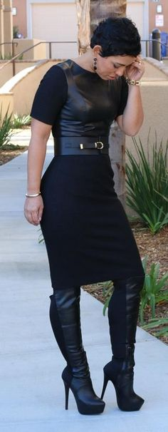 """ DIY Wool & Leather Dress Mimi G. """