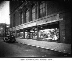 Eddie Bauer in downtown Seattle in 1942.