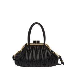 Miu Belle Matelassé nappa leather handbag | Miu Miu 5BK010_N88_F0002_V_OOO