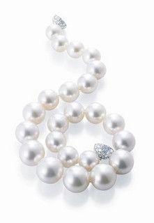 Collar Harry Winston, 23 perlas blancas del Mar del Sur, 72 diamantes | Flickr - Photo Sharing!