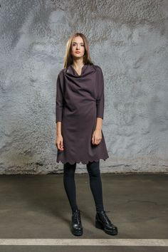 Scallop Dress brown via Diba se Diva. Click on the image to see more!
