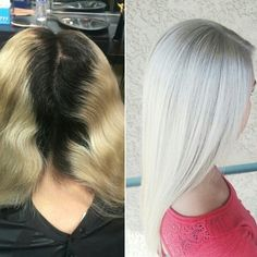 Transformation: Platinum Perfection *WHITE-OUT Blonde. Formulas & SBS on . thanks to for sharing her secrets with our BTC members!*WHITE-OUT Blonde. Formulas & SBS on . thanks to for sharing her secrets with our BTC members! White Blonde Hair, Bleach Blonde Hair, Icy Blonde, Blonde Color, Platinum Blonde Hair, Love Hair, Silver Hair, Hair Dos, Hair Hacks