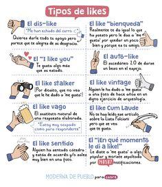 Tipos de likes en Facebook, de Raquel Córcoles, Moderna de Pueblo, para Cuore.