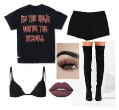 """""""I'm the Kylie you're the Kendall"""" by weirdobby on Polyvore featuring moda, L'Agence, Jeffrey Campbell e Lime Crime"""