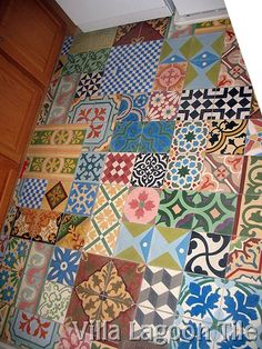 I'm swooning over cement tiles. Residential Encaustic Cement Tile Installations | Villa Lagoon Tile