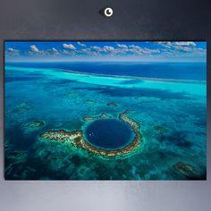 Image result for blue hole belize prints