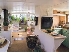 Is it really possible to live on a houseboat?different types of houseboats that are commonly used as fulltime dwellings of vacation homes. Barge Boat, Canal Barge, Canal Boat, Barge Interior, Boat Interior, Interior Design, Small Space Living, Small Spaces, Living Spaces