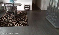 Kronoswiss Urban Black flooring in the #diningroom  Photo compliments: Mary D. #flooring #laminate #blackflooring
