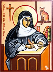 Saint Julian of Norwich: Mystic, writer, hermitess, and cat lady Catholic Saints, Patron Saints, Crazy Cat Lady, Crazy Cats, Patron Saint Of Cats, Julian May, All Shall Be Well, May Quotes, Religious Images