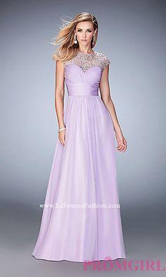Illusion Sweetheart Long Prom Dress LF-22890 by Gigi at PromGirl.com