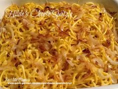 Cheese Spätzle is a traditional German way of serving this favorite noodle. Use either homemade or store-bought Spätzle, the resulting dinner is delicious.