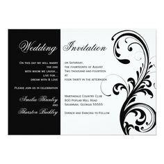 1770 best black and white wedding invitations images on pinterest black and white wedding invitations with swirls filmwisefo