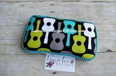 Groovy Guitars on Black Boutique Style by LauraLeeDesigns108