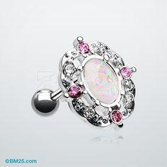 Grand Florid Opal Cartilage Tragus Earring