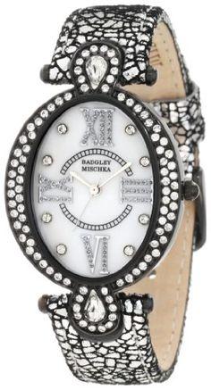 Badgley Mischka Women's BA/1039MPSI Swarovski Crystal Accented Oval Silver-Tone Leather Strap Watch Badgley Mischka http://www.amazon.com/dp/B006HIMWRI/ref=cm_sw_r_pi_dp_M6vXtb05DS58MW68