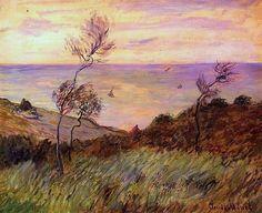 The Cliffs of Varengeville, Gust of Wind / Claude Oscar Monet - 1882