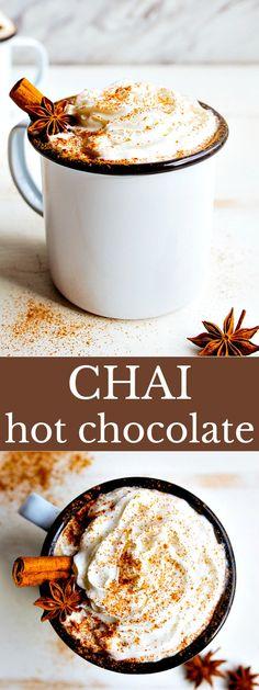 Chai Hot Chocolate via @dessertfortwo