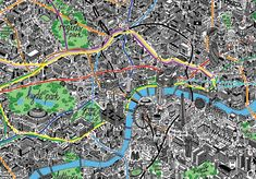 london hand-drawn map by jenni sparks