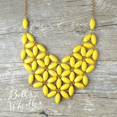 The Darla Daisy Bib Necklace in Yellow by ShopBellsNWhistles
