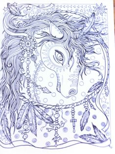 Animal Spirits Coloring Book for you to Color and by ChubbyMermaid