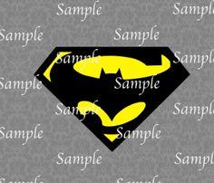 Superman Batman Logo SVG, DXF, EPS, PNG Digital File