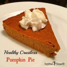Dessert Sans Gluten, Gluten Free Desserts, Dessert Recipes, Pumpkin Pie Recipes, Fall Recipes, Gluten Free Pumpkin Pie, Healthy Pumpkin Recipes, Pumpkin Pies, Vegan Pumpkin