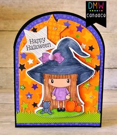 Candi O Designs O Design, Digital Stamps, Witches, Happy Halloween, Card Ideas, Cool Designs, Lunch Box, Card Making, Scrapbook
