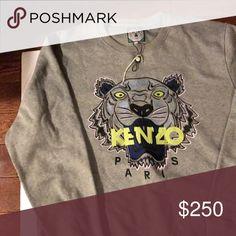 Men's Kenzo Sweater Men's Grey Kenzo Sweater Kenzo Sweaters