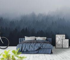 Foggy woods fototapet/tapet fra Happywall