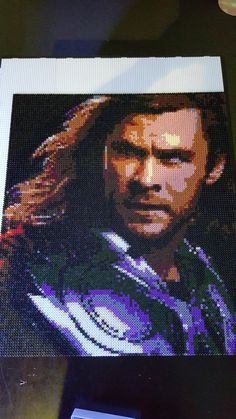 Thor (Chris Hemsworth) perler bead art by GoW_GamerChick_91