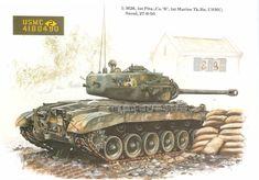 Seoul, M26 Pershing, Patton Tank, Model Tanks, Korean War, Box Art, Military Vehicles, Diorama, World War