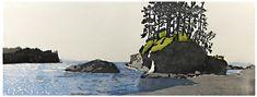 Eva Pietzcker Beach, woodblock printed Japanese, 24 x 67 cm, 2011