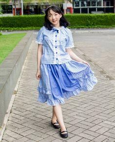 344b0d5672b2e Cute Kawaii Clothing Brand Online Shop. Kawaii DressBlue GinghamDress ...