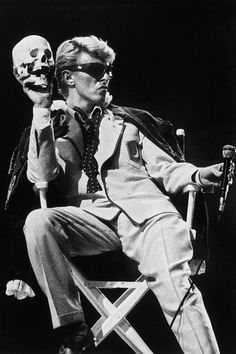 David Bowie performs on stage in Brussels, on May 20, 1983 - a decade after he retired Ziggy Stardust.